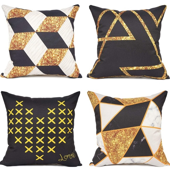 Gold Sofa Home Bedroom Decor Pillow Case Cushion Cover Square18/'/'